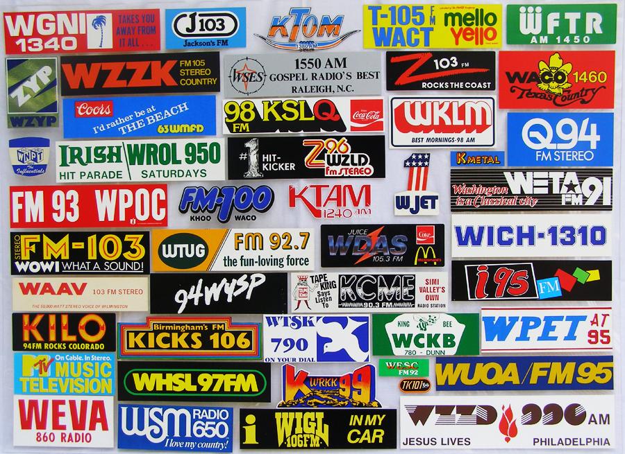 Radio Station Logos Radio station bumperstickers
