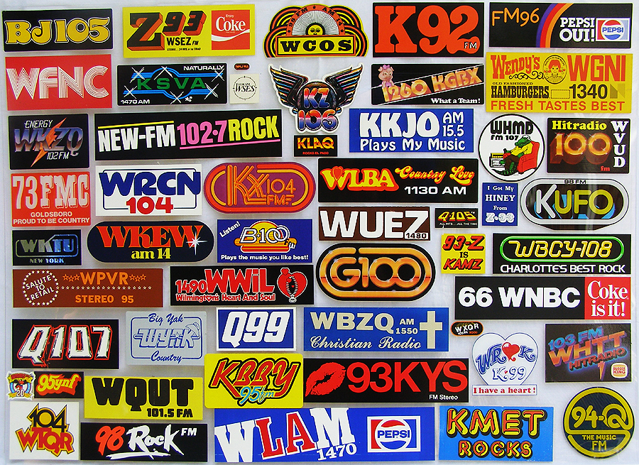 Old Radio Station Logo Radio station bumperstickers